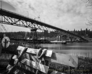 Sellwood Bridge, Portland, Being Rebuilt
