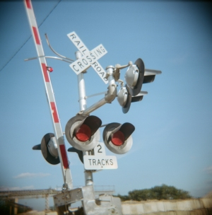 2 Tracks - Holga photo by Susan Stayer
