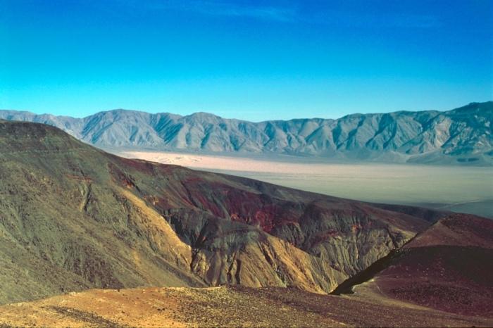 Rainbow Canyon and Distant Panamint Dunes - Velvia 50, G. Zuiko 50mm f/1.4