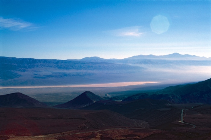 Descent into Panamint Valley - Velvia 50, G. Zuiko 50mm f/1.4