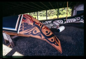 Canoe shed, Haida Heritage Centre