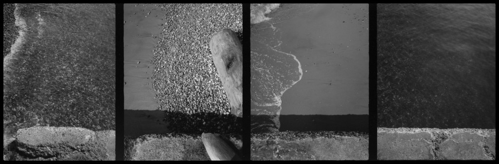 drain edge, two sides, double diptych
