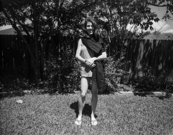 me by louise back yard  HP5 4x5   (1 of 1)