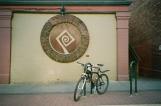 Artfully placed bike