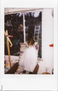 Instax: look at dad cutting down the apple tree