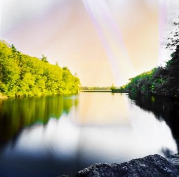 Zero Image 6X6, Kodak Ektar. Shot on a lake in Burrilville, Rhode Island
